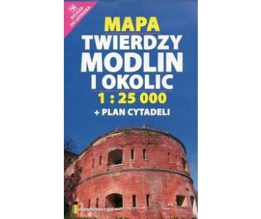 Twierdza Modlin i okolice mapa+plan cytadeli