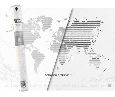 Świat mapa zdrapka Loft White