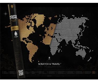 Świat mapa zdrapka Loft Black