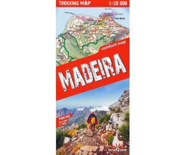 Madeira trekking map