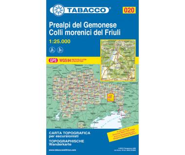 TAB020 Prealpi Carniche e Giulie del Gemonese