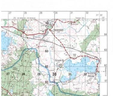 M-33-31-A,B Pieńsk mapa topograficzna