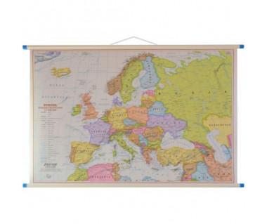 Europa mapa polityczna/fizyczna dwustronna 100x70 cm