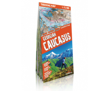 Georgian Caucasus trekking map