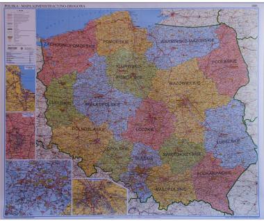 Polska mapa administracyjno-drogowa
