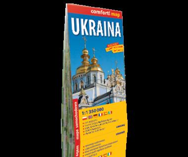 Ukraina mapa laminowana