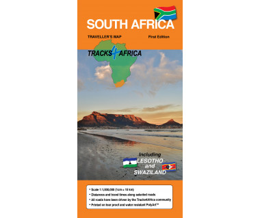 South Africa traveller's map