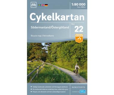 Södermanland / Östergötland  cykelkartan 22