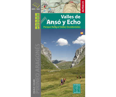 Anso y Echo Valles PN Valles Occident. map & hiking guide