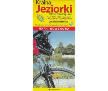 Kraina Jeziorki mapa rowerowa