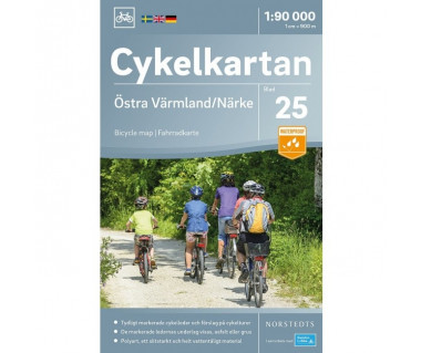 Ostra Varmland / Narke cykelkartan 25