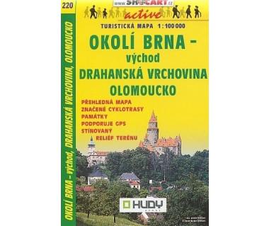 Okoli Brna vychod, Olomoucko - Mapa