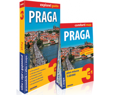 Praga (przewodnik+atlas+mapa)