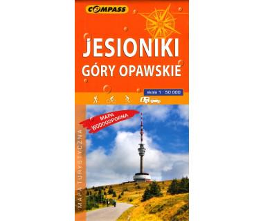 Jesioniki, Góry Opawskie mapa laminowana