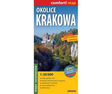 Okolice Krakowa mapa laminowana