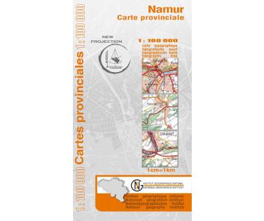 Namur Provinciekaart