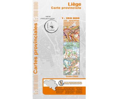Liege Provinciekaart