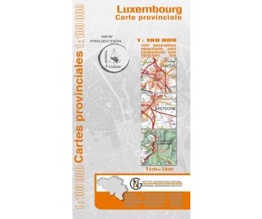 Luxembourg Provinciekaart
