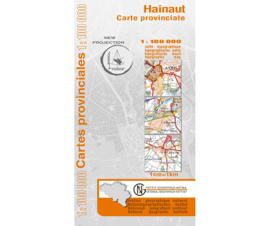 Hainaut Provinciekaart