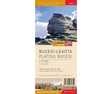 Bucegi Leaota harta de drumetie/hiking map