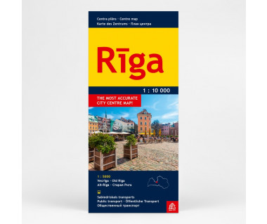 Riga centre map