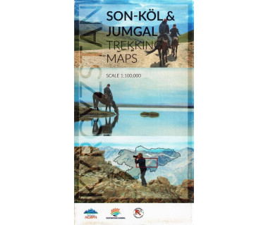 Kyrgyzstan, Son-Kol & Jumgal trekking map