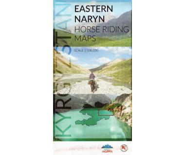 Kyrgyzstan, Eastern Naryn horse riding map