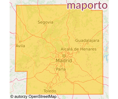 M 121 Madrid y alrededores - Mapa