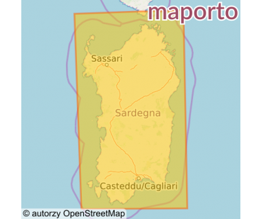 M 366 Sardegna - Mapa