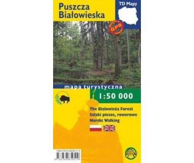 Puszcza Białowieska mapa turystyczna (pol.-ang.)