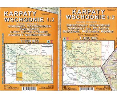Karpaty Wschodnie mapa przeglądowa
