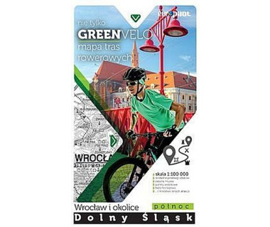 Green Velo mapa rowerowa Wrocław i okolice - Dolny Śląsk północ