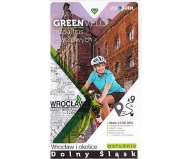 Green Velo mapa rowerowa Wrocław i okolice - Dolny Śląsk południe