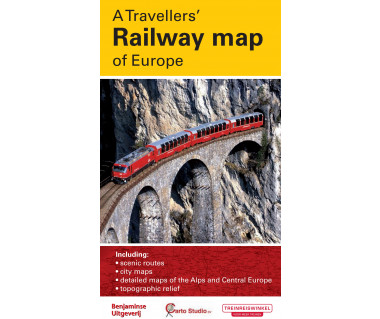A Travellers' Railway map of Europe