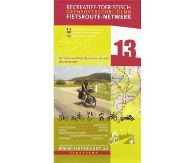 Brabant-Wallon 13 Samber Valley biking & hiking map