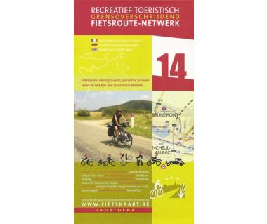 Hainaut 14 Scheldt Valley biking & hiking map