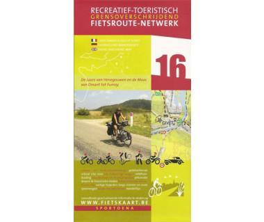 Botte du Hainaut 16 Meuse biking & hiking map