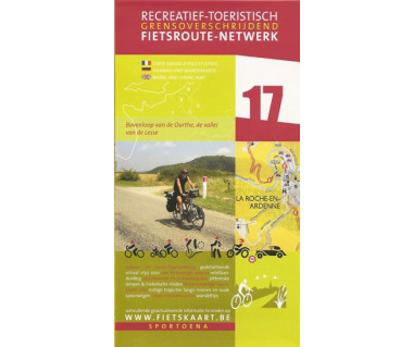 Ourthe spring 17 Lesse Valley biking &  hiking map