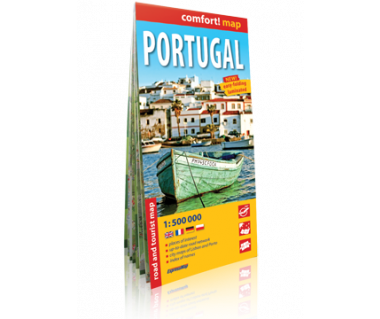 Portugal road and tourist map