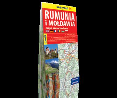 Rumunia i Mołdawia mapa samochodowa