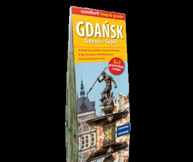 Gdańsk, Gdynia, Sopot 2 w 1 (mapa+przewodnik)