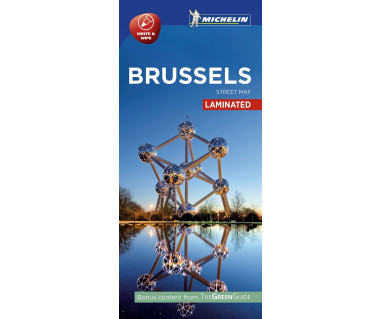Brussels - Street Map (laminated)