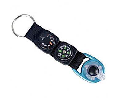 Brelok Munkees kompas termometr LED 1084