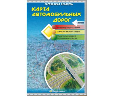 Białoruś mapa samochodowa