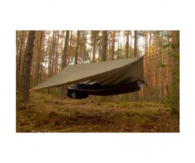 Płachta biwakowa Tarp Ultralight 3x3 m dark olive