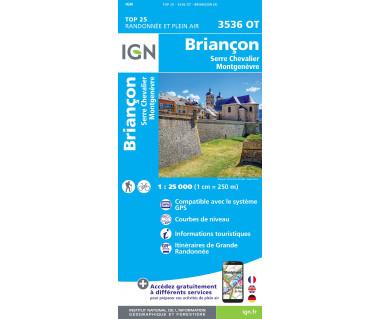 IGN 3536 OT Briancon, Serre-Chevalier, Montgenevre