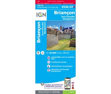 IGN 3536 OTR Briancon, Serre-Chevalier, Montgenevre
