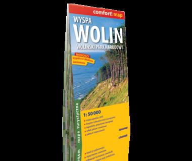Wyspa Wolin, Woliński Park Narodowy mapa laminowana
