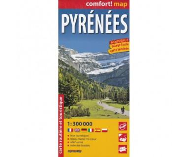 Pyrenees mapa laminowana