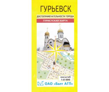 Gurjewsk mapa miasta
